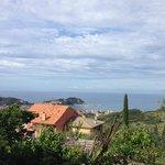 la vista dal borgo di San Bernardo su Sestri Levante