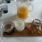 yoghurt muesli and jams