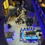very pleasant bar area on groud floor of hotel