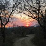 sunset over Bhekapanzi