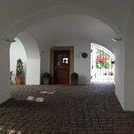Entrance to hotel lobby