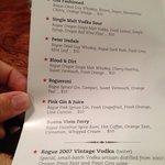 An interesting cocktail menu