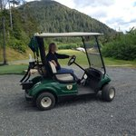 Never too late to try a golf cart for the first time!