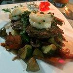 Carlos cooks amazing food! Steak and shrimp
