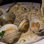 linguini with clams (which were gritty).