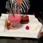 Moelleux chocolat Smoothie framboise