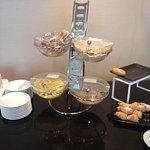 buffet du petit-déjeuner : céréales