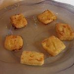Leche frita flameada (Menú del Peregrino)