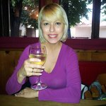 Me having a delicious Moscato Wine at Pivnice Dacicky