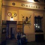 Outside of Pivnice Dacicky