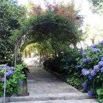 Ingresso principale del giardino che porta anche alla piscina