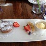 Dessert - flanc au chocolat, succulent