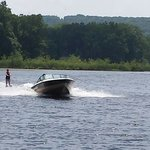 tubing and water skiing
