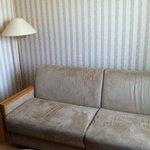 super canapé et son papier peint