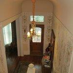 Escalier qui mène aux suites