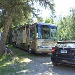 Our campsite in Castlegar