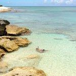 snorkel by the rocks