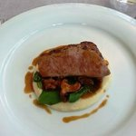 Restaurant Zur Kaiserkron: Veal on mash potatoes with mushroom sauce