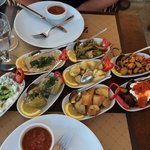 Part of the delicious Turkish Meze