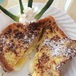 Pina colada stuffed french toast