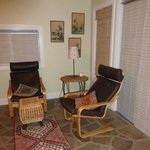 Sitting area in the Carriage House Room