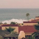 Our view from the Master bedroom, waves crashing violently.