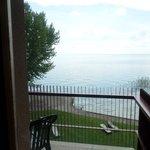 Beautifu lakel view from the balcony