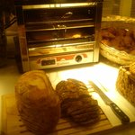 bloomers, pastries and toasting machine