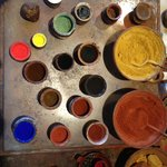 A recreation of paints and pigments Rembrandt might have used.