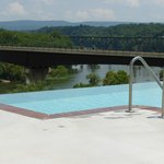 View from the infinity pool looking out over the Potomac River.