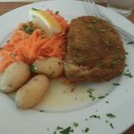 My fish pie and carrots and potatoes