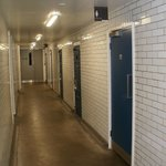 Toilets are in the old police cells!