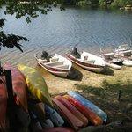 Boat rental area