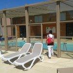 La piscine et l'espace forme