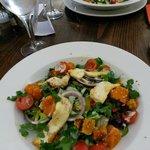 Haloumi and butternut salad