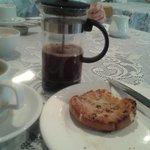 GF teacake with coffee