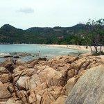 la bella spiaggia di Noi Chaweng davanti al resort