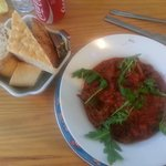 Chilli with selection of Breads - YUMMY!!!