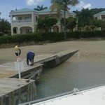 Pier at Buccaneer Hotel. Other passengers boarded here before going to Buck Island