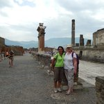 With official guide Pina at Pompeii