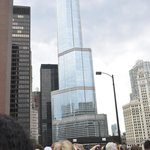 the TRUMP tower from the bus