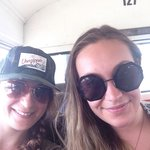 me And my cousin on the bus