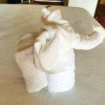 Такие вот слоники - полотенца встречают гостей в номерах