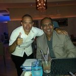 Lemway, resturant manager and me.