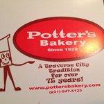 Potter's Bakery box