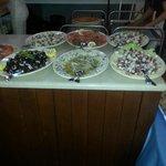 buffet antipasti-serata pizza