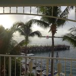 Stunning view of harbor and Sunset Pier from 4th floor balcony of 2-bedroom suite