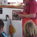 Capt Tom Measuring Lobster