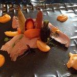 Quasi de veau, légumes anciens et glace carottes/oranges