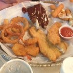 The bbq & seafood platter for $24!